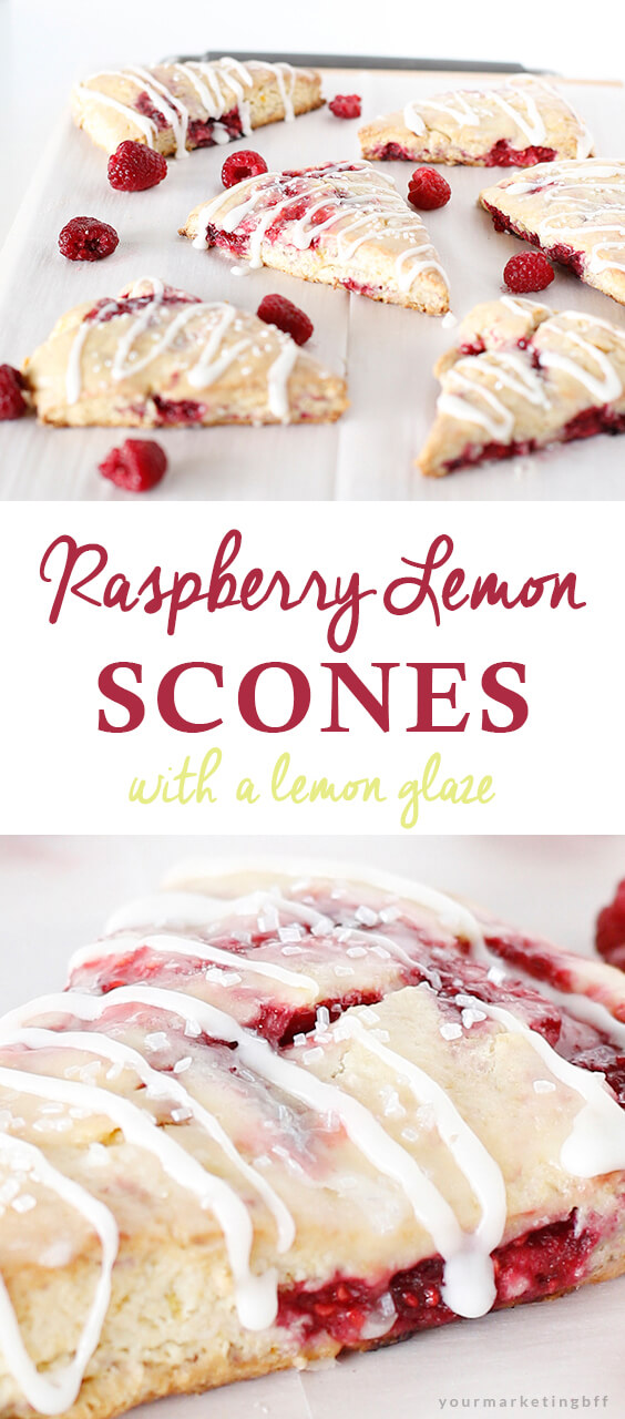 Moist Glazed Raspberry Lemon Scones