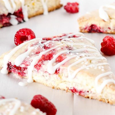 Glazed Raspberry Lemon Scones
