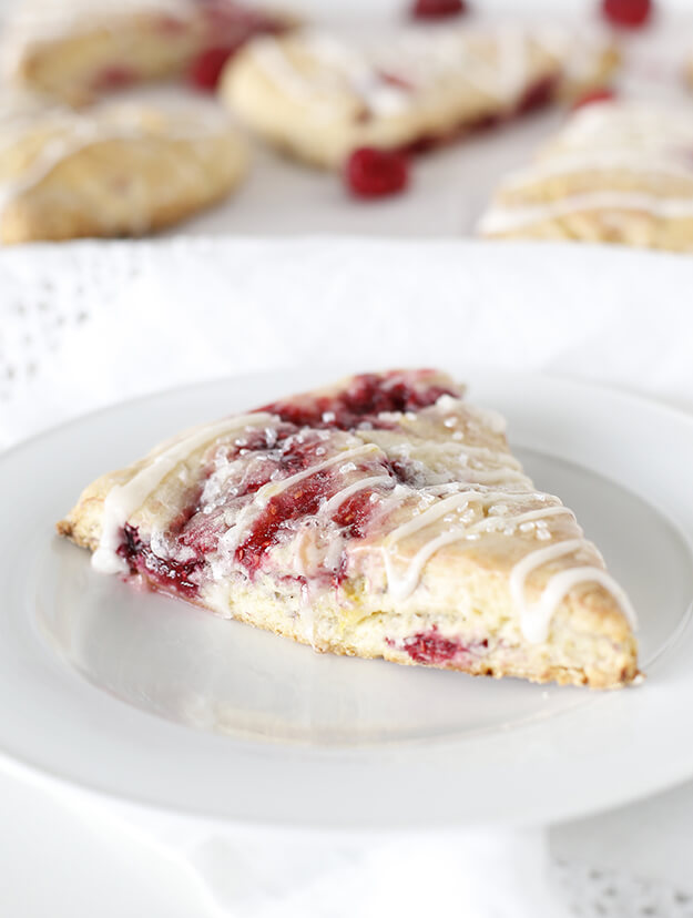 Soft Raspberry Lemon Scones