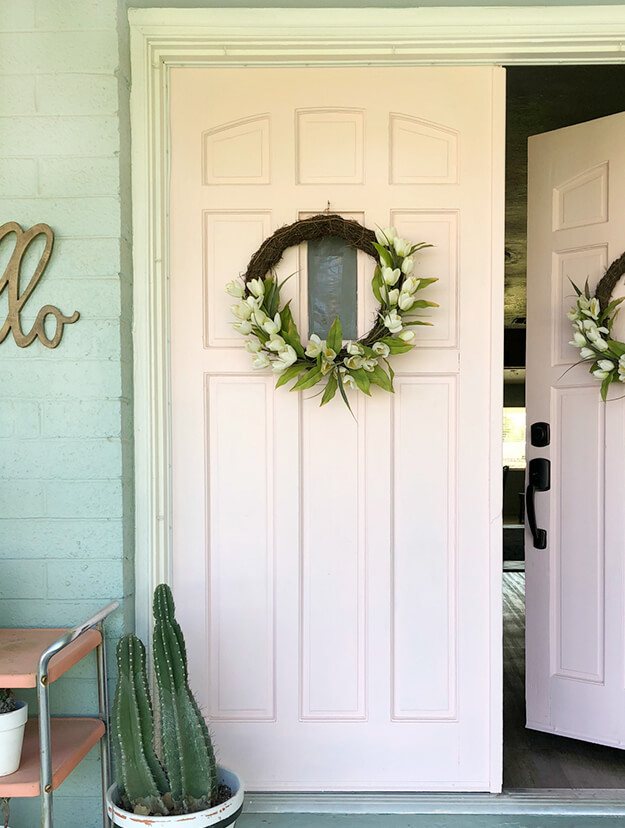Floral Wreath DIY by Lolly Jane