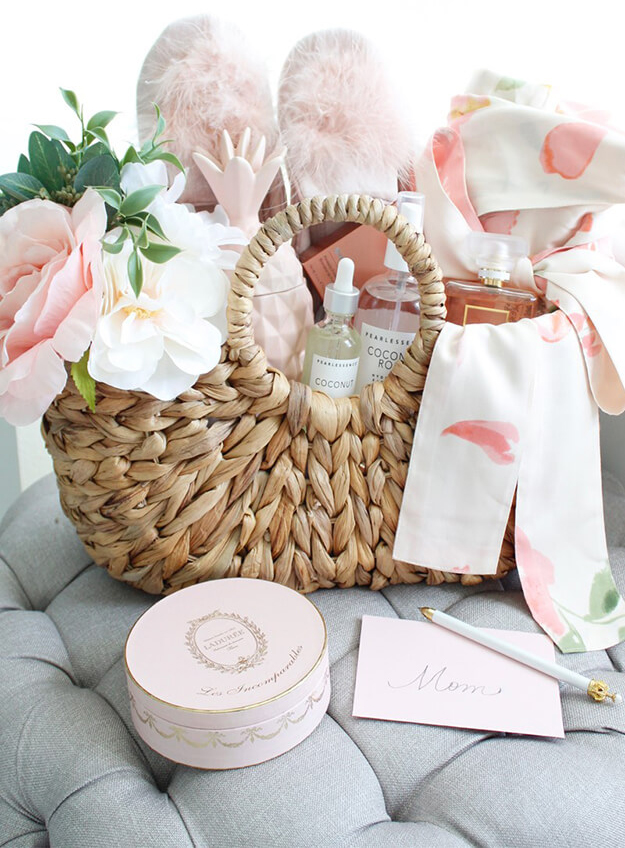 Another Pretty DIY Gift Basket Idea For Mom by Summer Adams