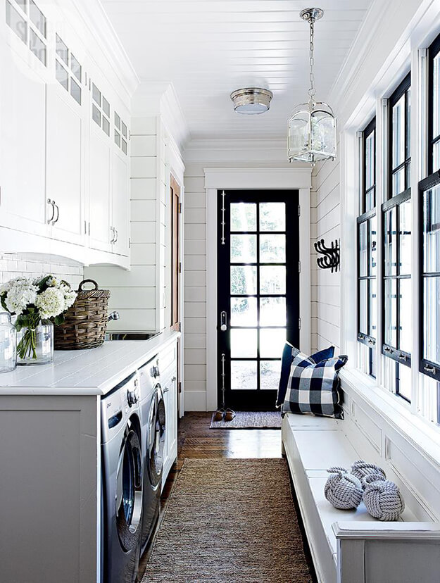 White and Black Inspiring Mud rooms