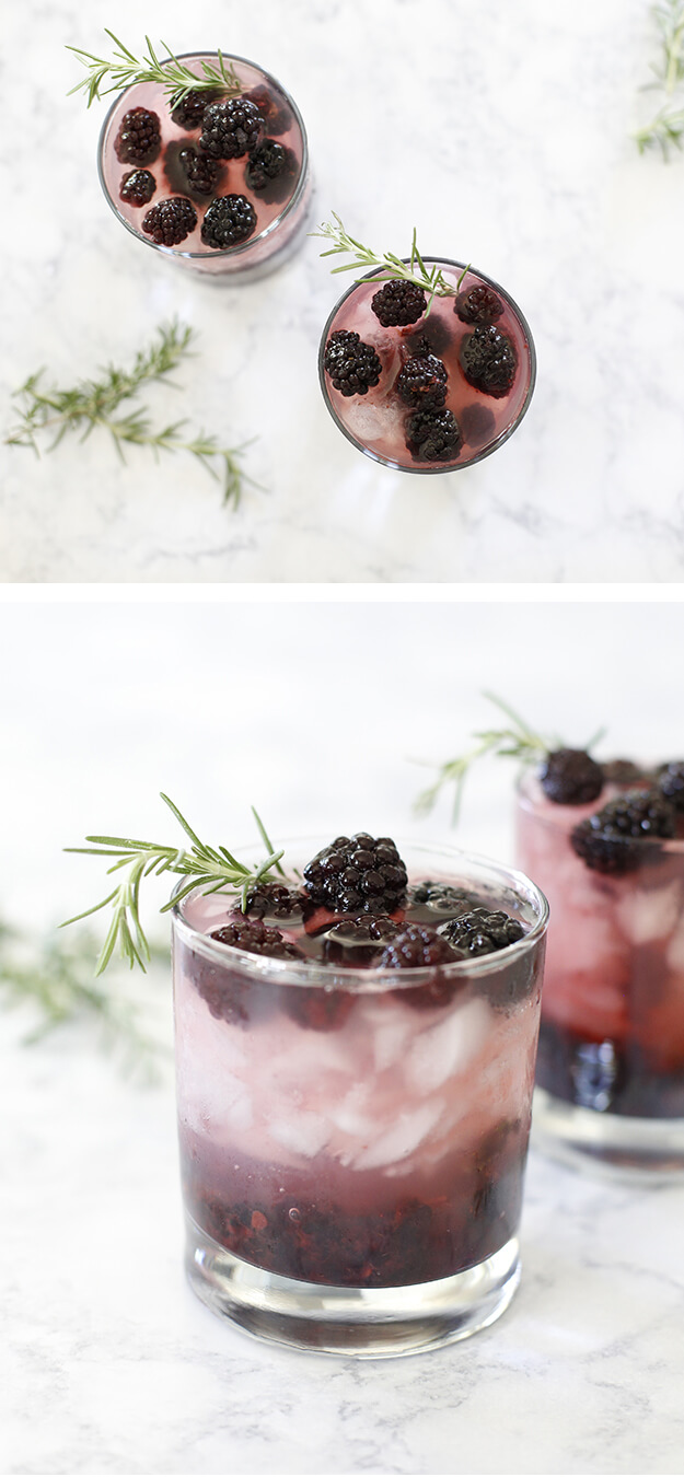 Refreshing Blackberry Cocktail Mocktail Recipe