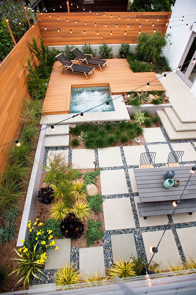 beautiful backyard oasis ideas ground paver design