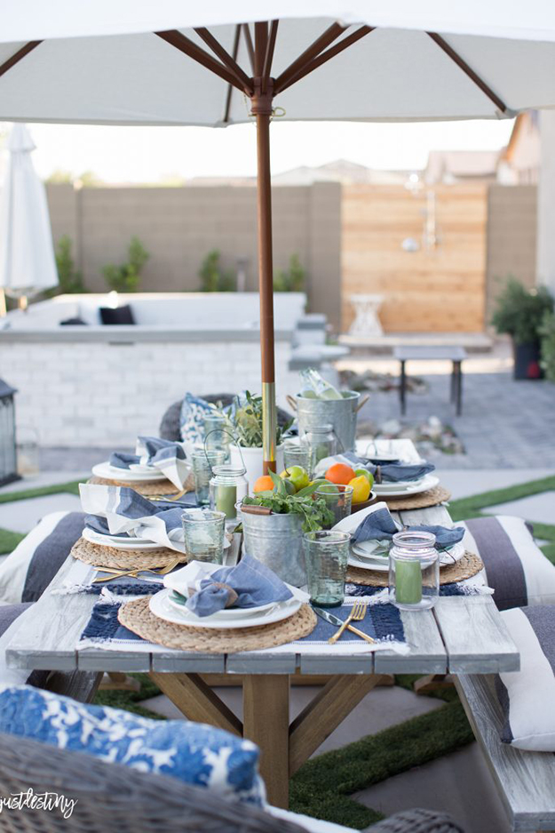 beautiful backyard oasis ideas patio table