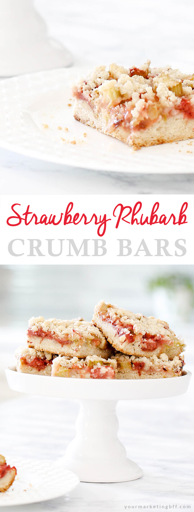 Strawberry Rhubarb Crumb Bars Recipe