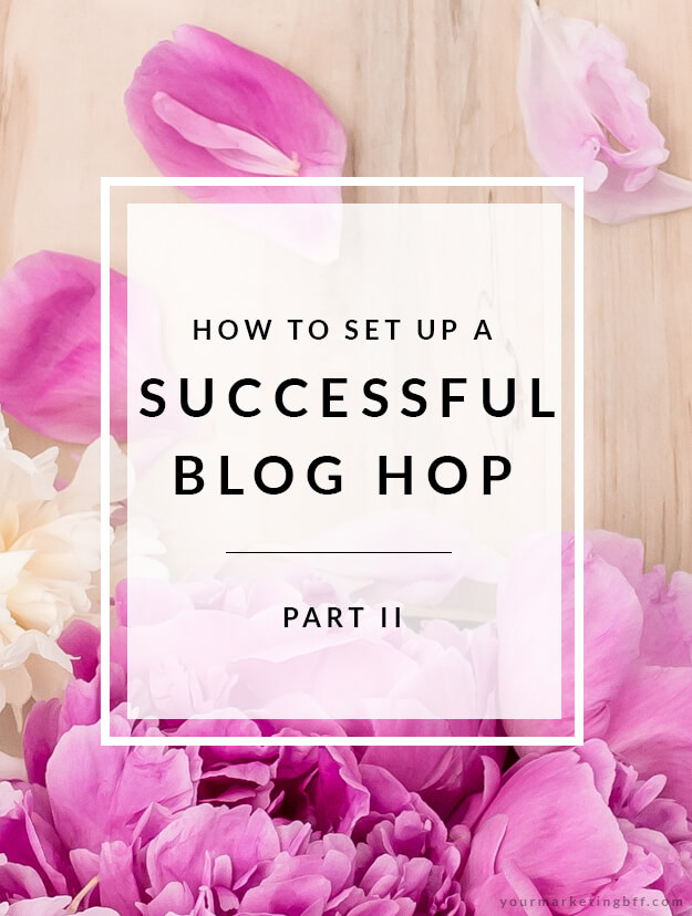 how to set up a successful blog hop part 2
