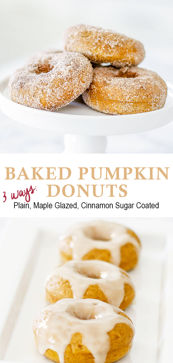 Baked Pumpkin Donuts Recipe - 3 ways
