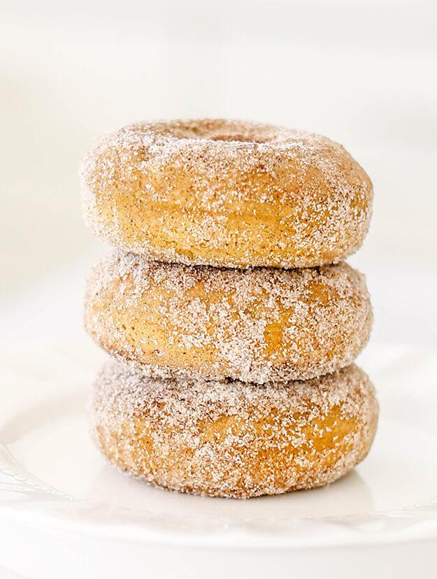 Baked Pumpkin Donuts Recipe Cinnamon Sugar Coated