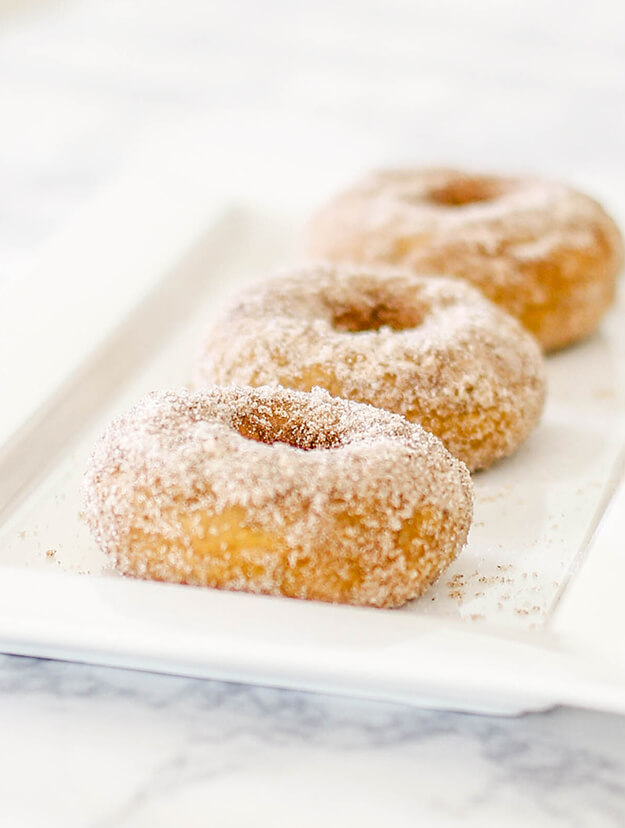 Easy Baked Pumpkin Donuts Recipe Cinnamon Sugar Coated
