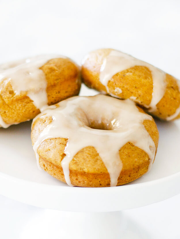 Easy Baked Pumpkin Donuts Recipe Maple Glazed