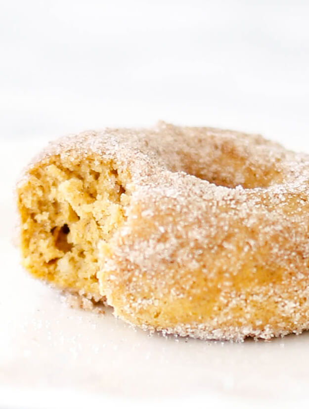 Easy yummy Baked Pumpkin Donuts Recipe Cinnamon Sugar Coated