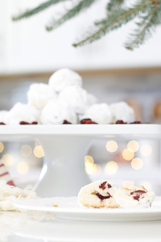 The Best Cranberry Snowball Cookies