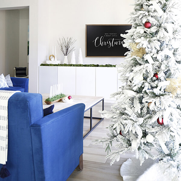 A Modern Winter Wonderland Christmas Home Tour – With A Touch of Burgundy