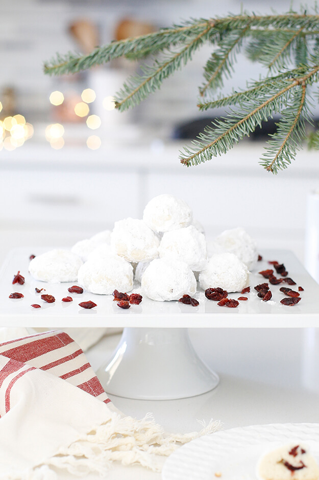 The Best Cranberry Snowball Cookies-2