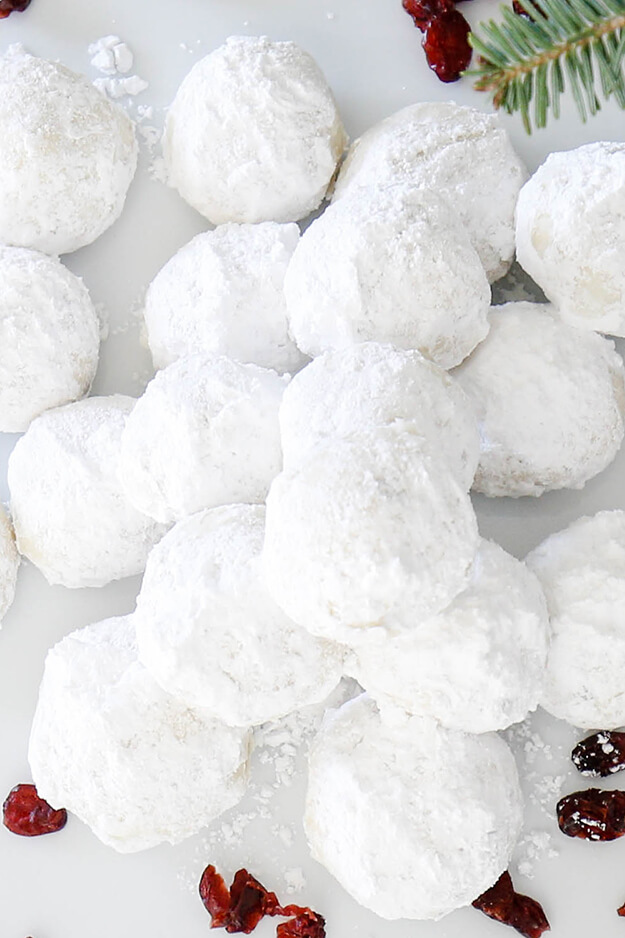 The Best Cranberry Snowball Cookies-3