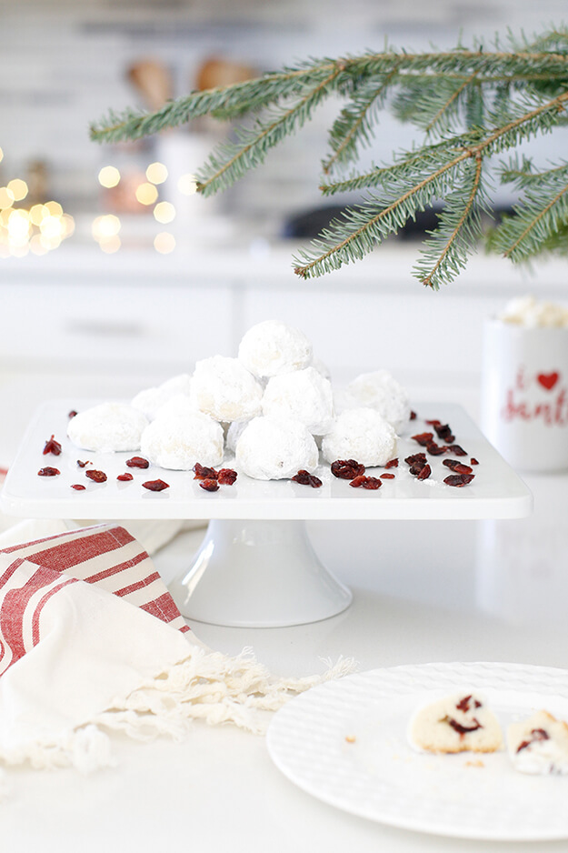 The Best Cranberry Snowball Cookies-4