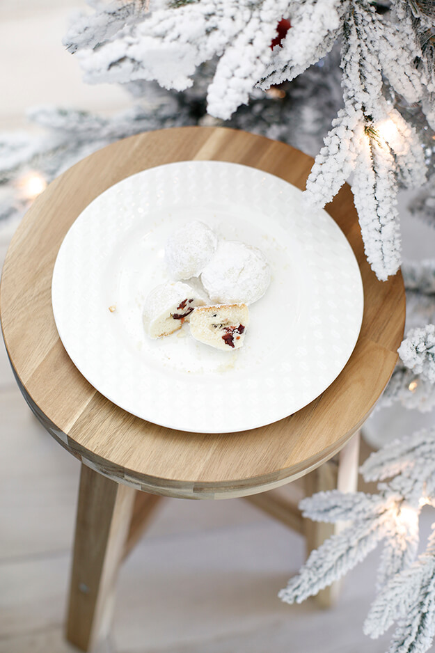 The Best Cranberry Snowball Cookies for Santa-7