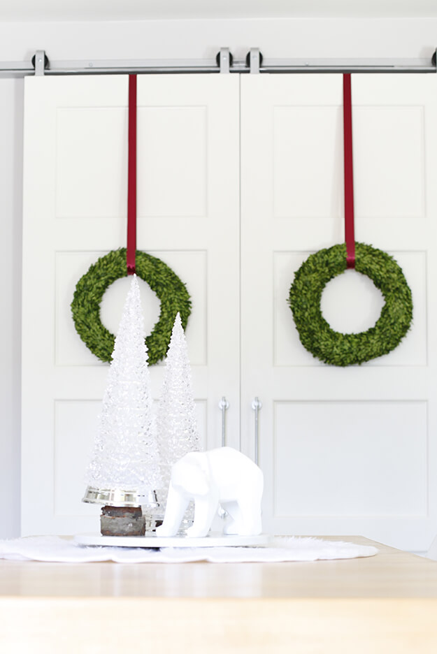 Modern Winter Wonderland Christmas Home Tour With A Touch of Burgundy