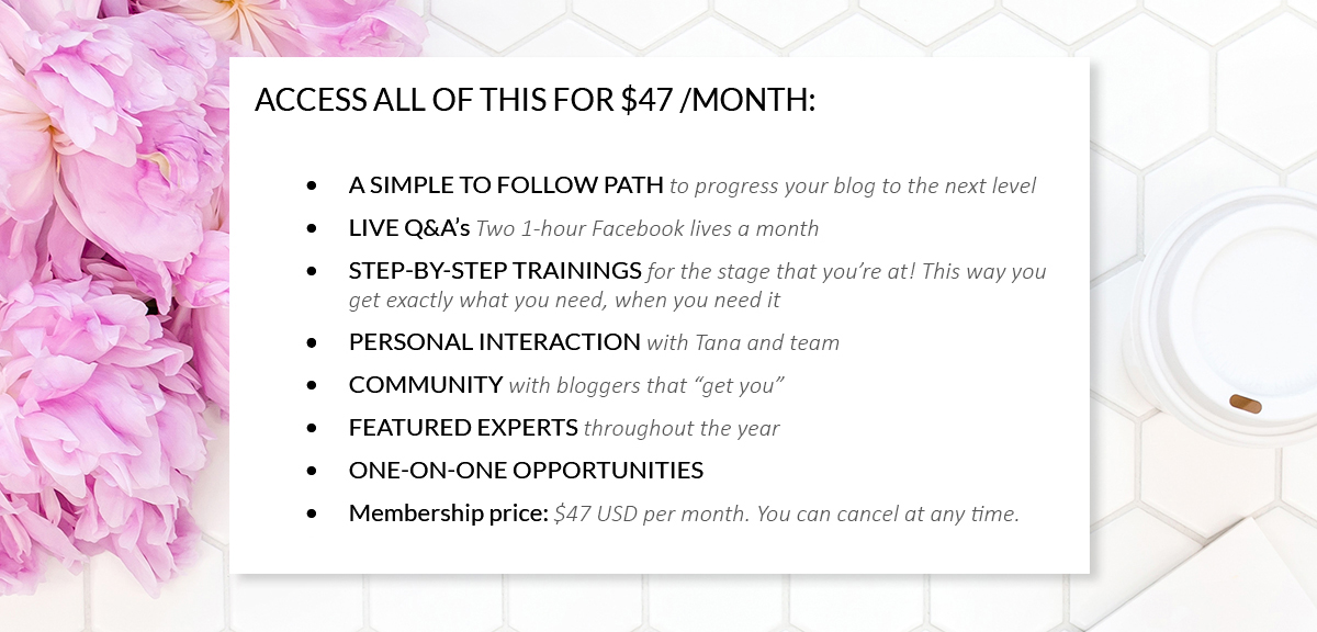 Access all of this for 47 dollars per month
