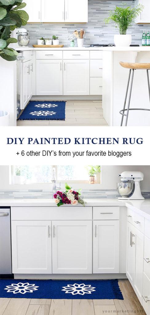 DIY Painted Kitchen Rug