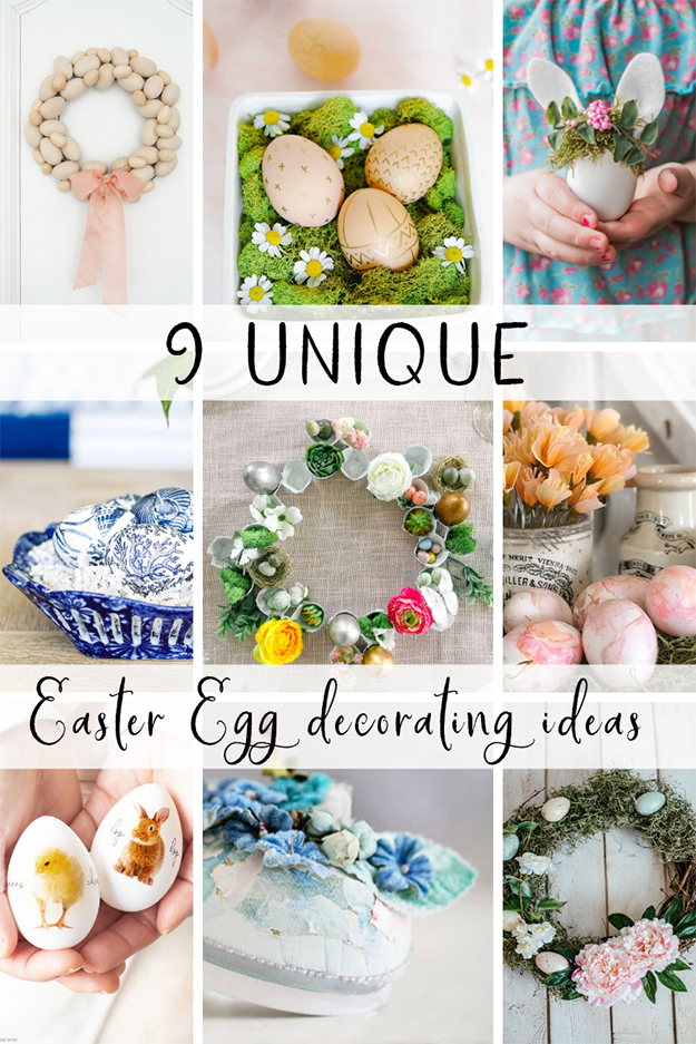 9 unique easter egg decorating ideas-pinterest image