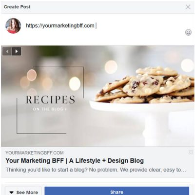 How to change the Facebook link preview photo-feature image