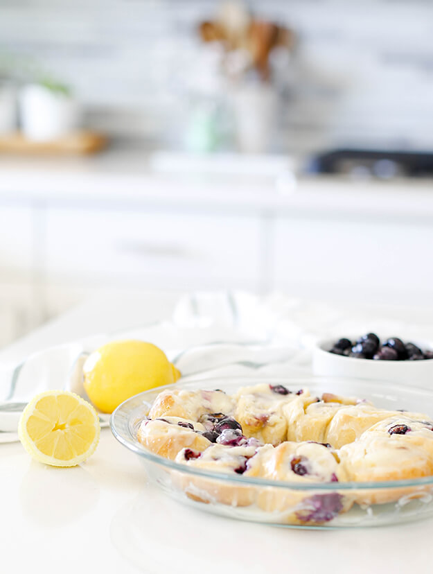 easy delicious blueberry lemon crescent rolls