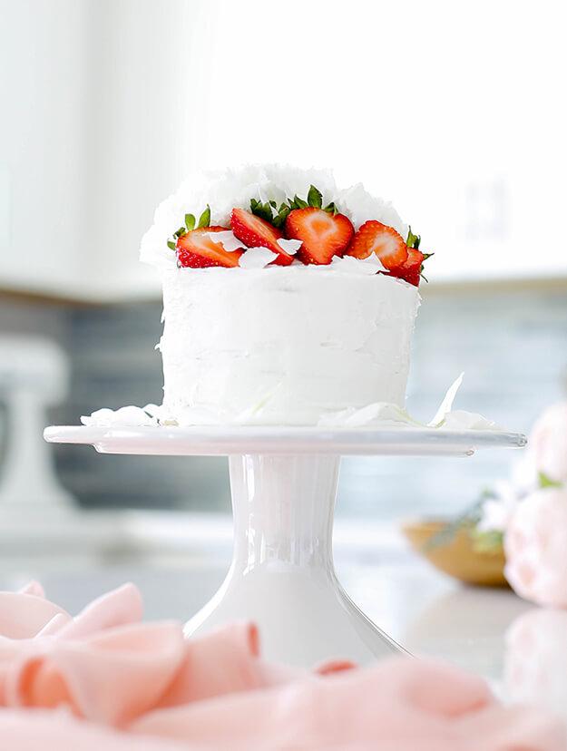 Easy Strawberry Vanilla Layer Cake 3
