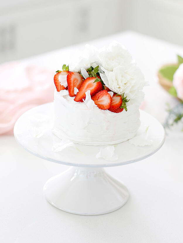 Easy Strawberry Vanilla Layer Cake by Your Marketing BFF