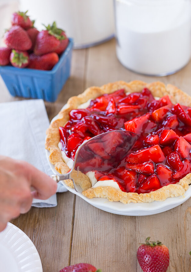 Strawberry Cream Pie by Home with Holly J