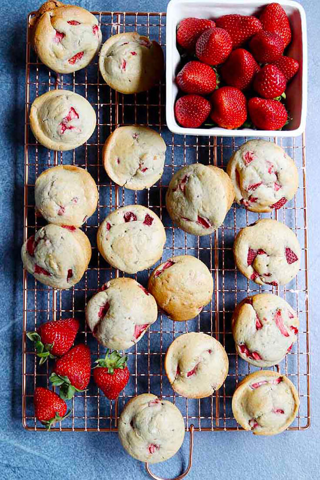 fresh strawberry muffins by Modern Glam