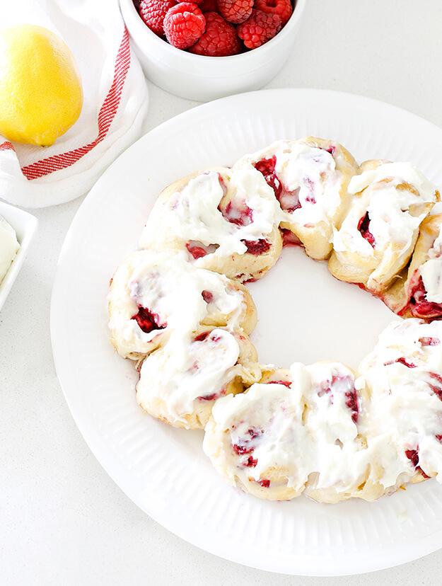 easy raspberry lemon crescent rolls cream cheese frosting-1