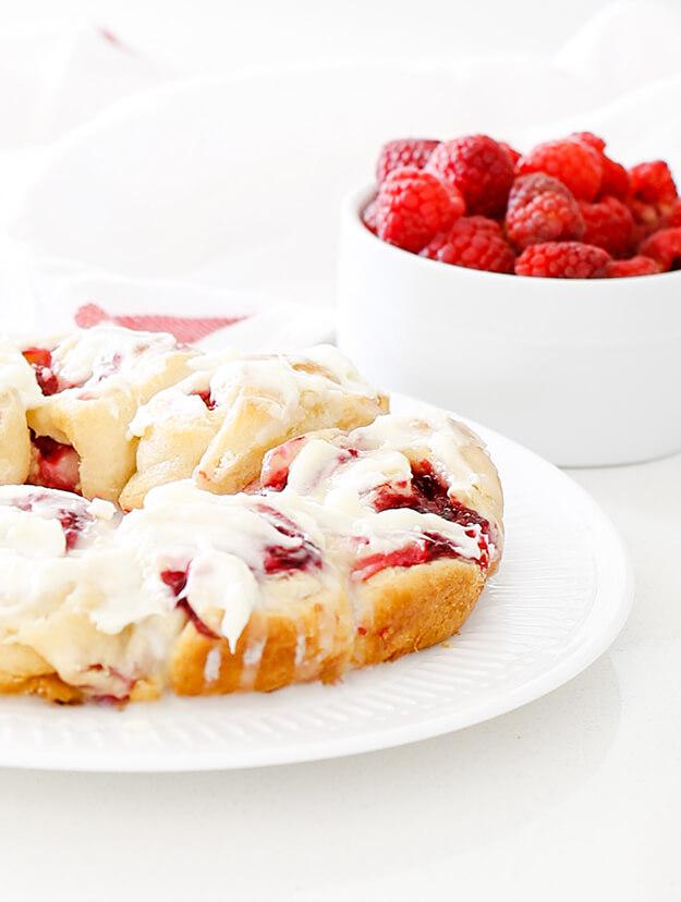 easy raspberry lemon crescent rolls cream cheese frosting