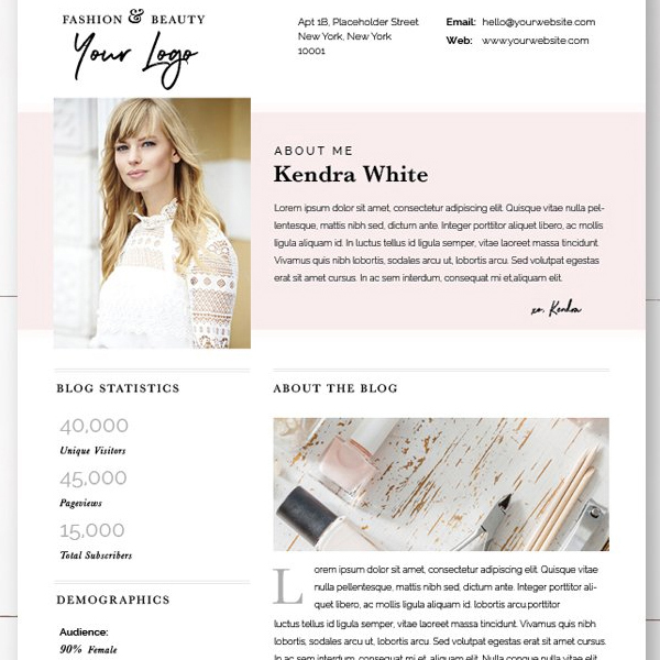 How To Make a Media Kit that Rocks + Fave Templates