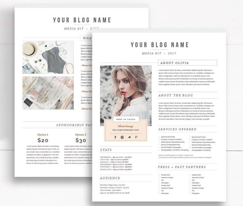 How To Make a Media Kit That Rocks - media kit template 3