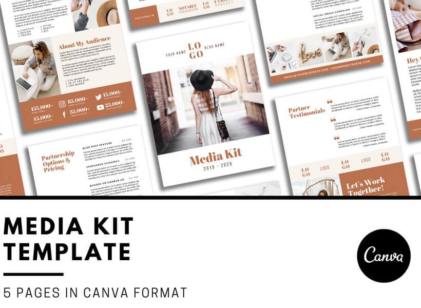 How To Make a Media Kit That Rocks - media kit template 5