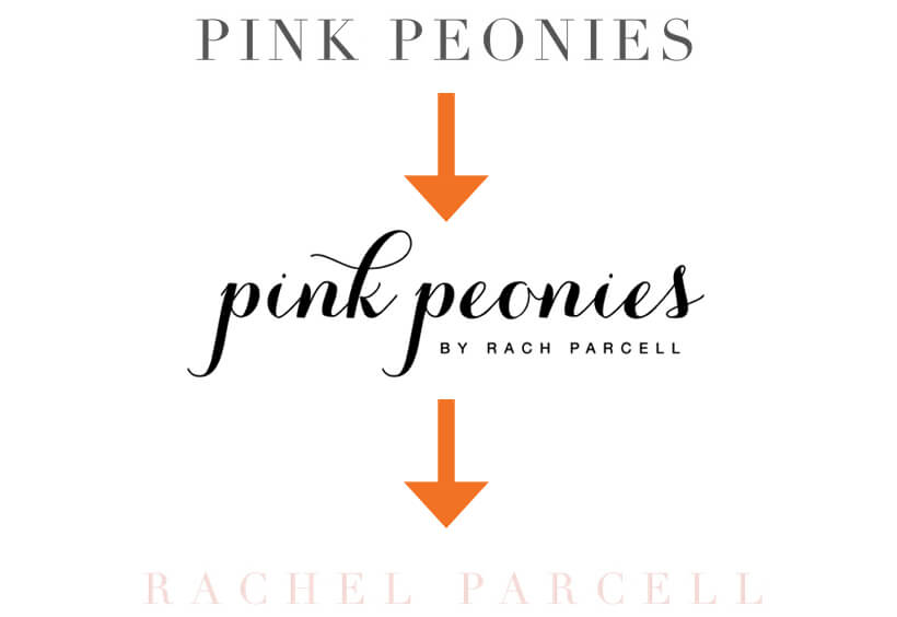 how to change your blog name without losing followers - pink peonies to rachel parcell