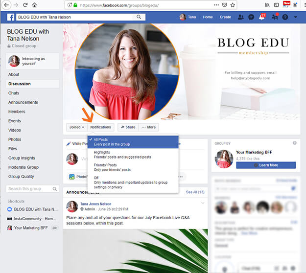 How To Receive Facebook Group Notifications