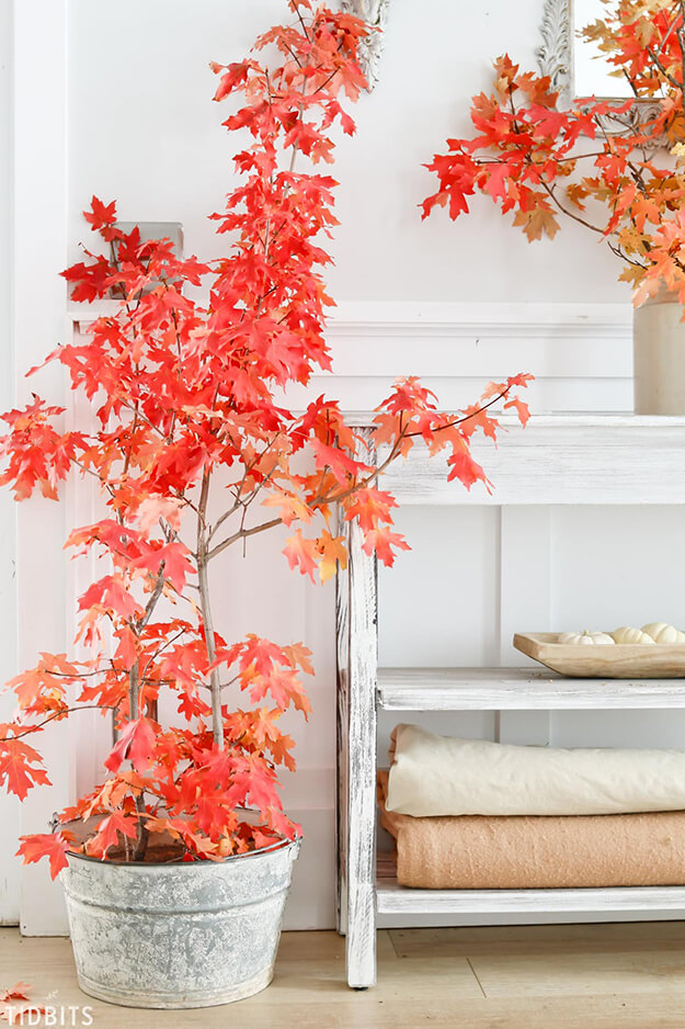 Fall decorating ideas neutral tones with a pop of color -6