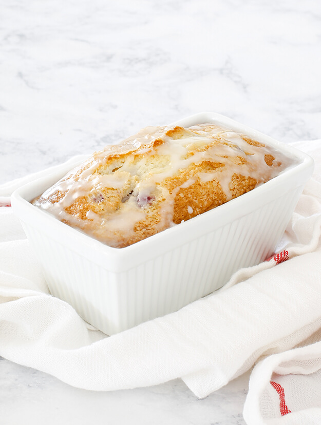 The Best Glazed Raspberry Bread Loaf-2