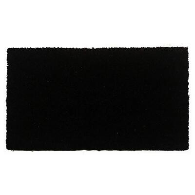 Black Coir Doormat