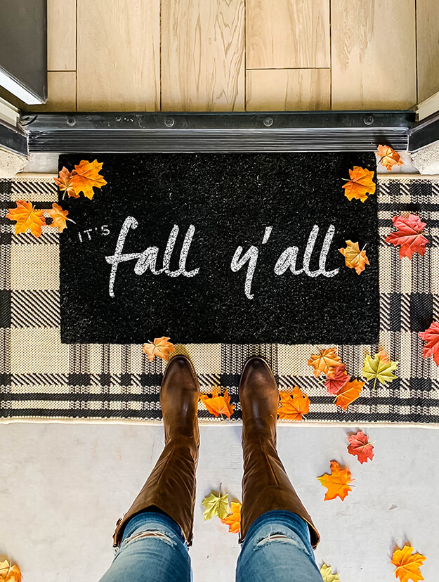 easy DIY Fall Doormat painted -1