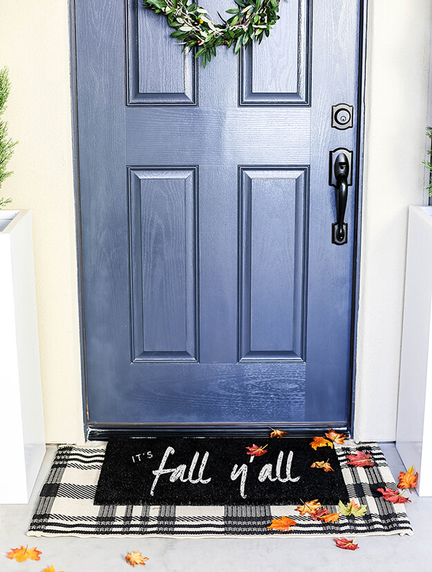 easy DIY Fall Doormat painted -3