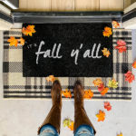 easy DIY Fall Doormat painted -feature