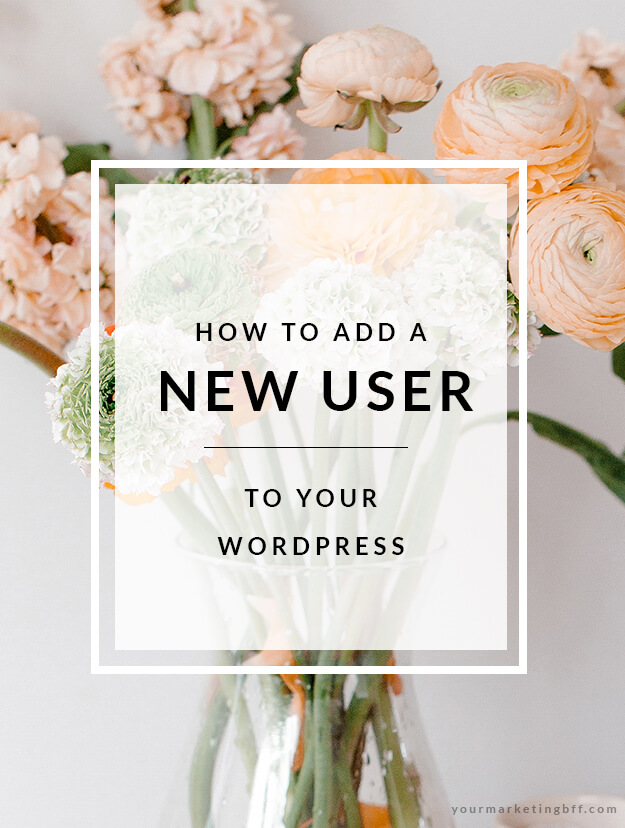 How to add a new user to your wordpress site