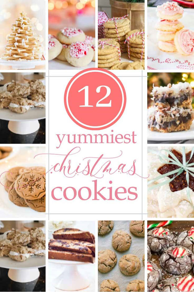 12 Yummy Christmas Cookie recipes