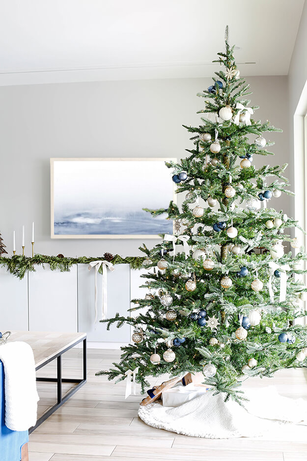 Modern simple blue and sage Christmas -1