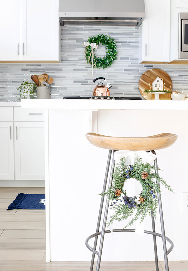 Modern simple blue and sage Christmas -11