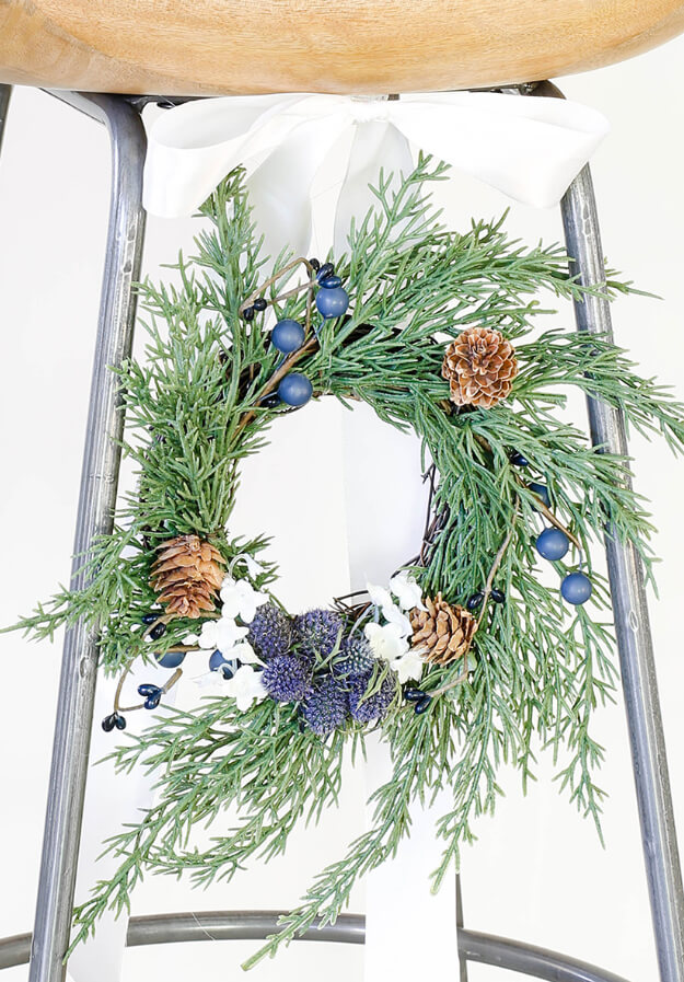 Modern simple blue and sage Christmas -12